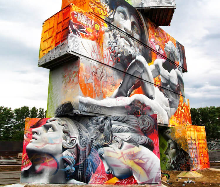 North west walls by Pichi and Avo