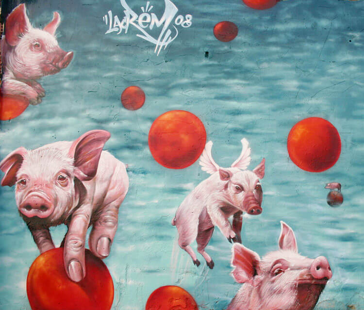 Sueralistic pigis by Pichi and Avo