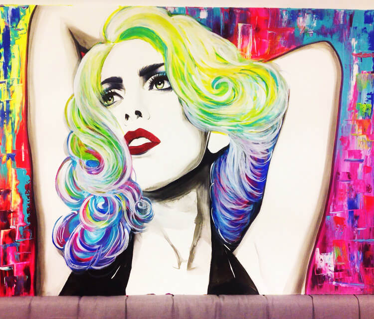 Coloured Lady gaga  by Pixie Cold