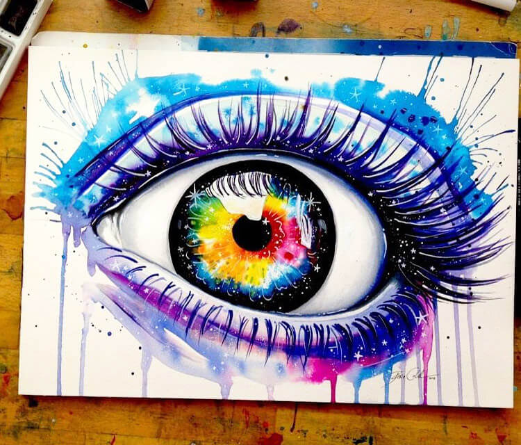 Galaxies in your eyes  by Pixie Cold