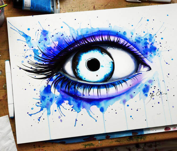Her Blue Eye  by Pixie Cold