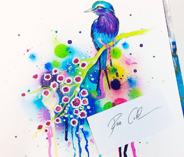 In Heave watercolor painting by Pixie Cold