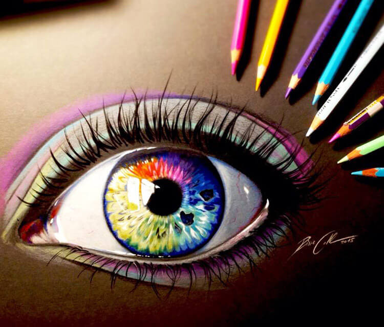 My soul is a rainbow color drawing by Pixie Cold