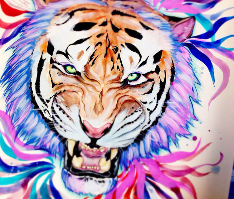 Rainbow Tiger  by Pixie Cold