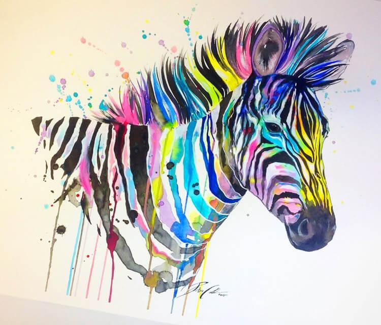 Rainbow zebra  by Pixie Cold