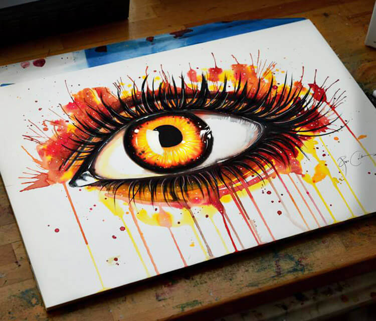 Sun Eye painting by Pixie Cold