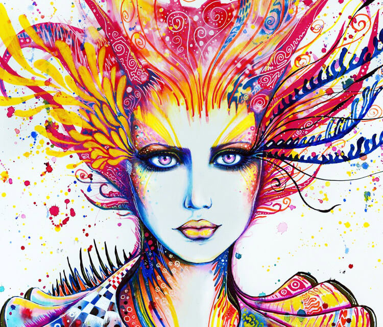 The Artist watercolor painting by Pixie Cold