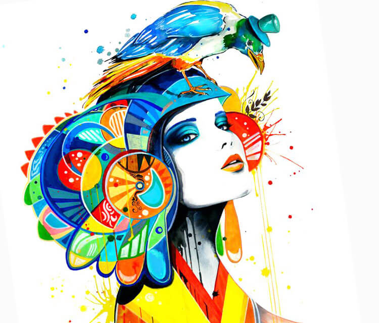 The Aztec watercolor painting by Pixie Cold