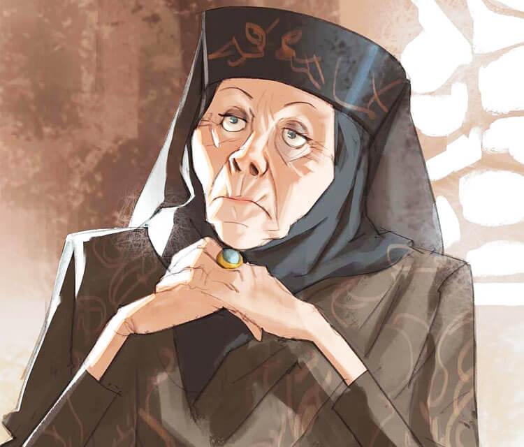 Game Of Thrones Characters By Ramon Nuñez: Lady Olenna Digitalart By Ramon Nunez