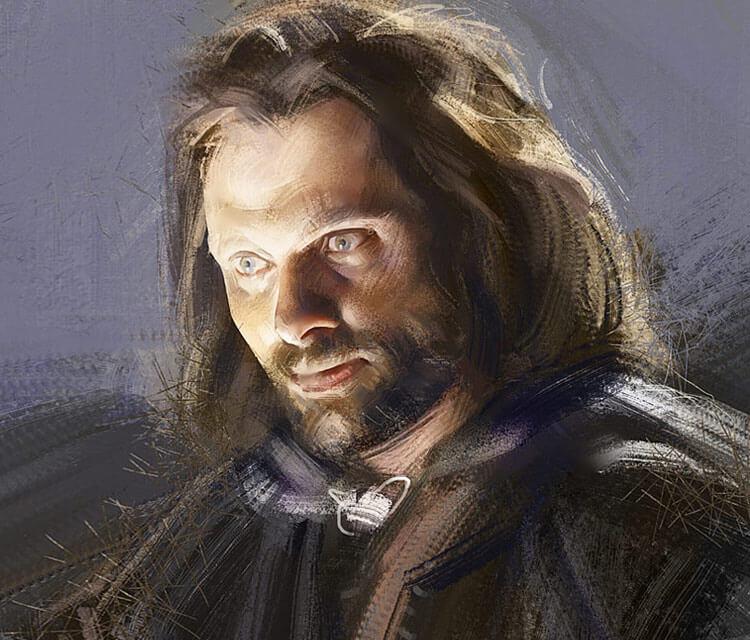 Aragorn digitalart by Ramon Nunez