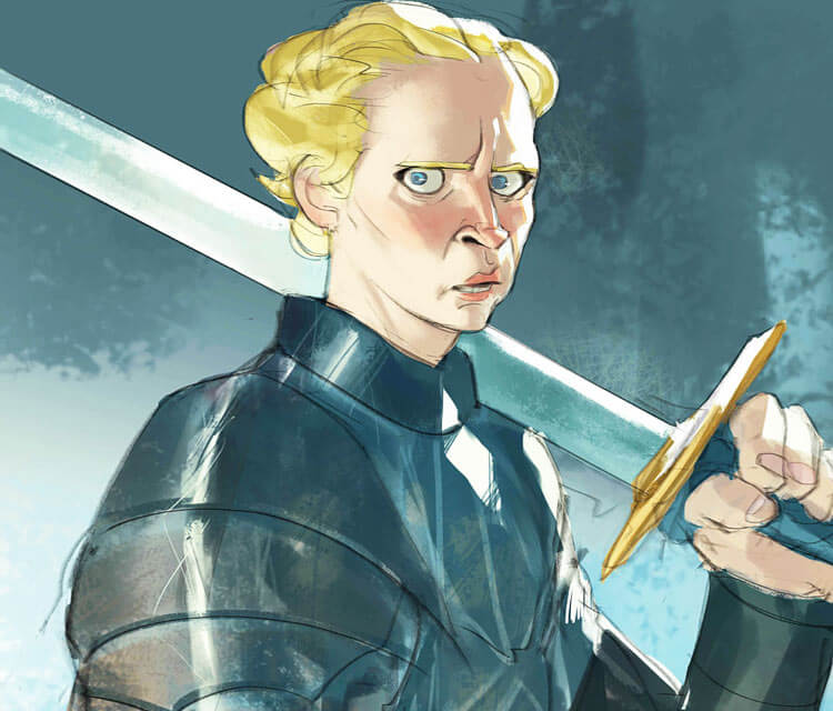 Brienne of Tarth painting by Ramon Nunez