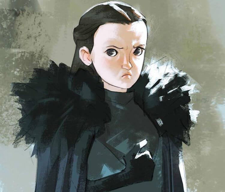 Lyanna Mormont digitalart by Ramon Nunez