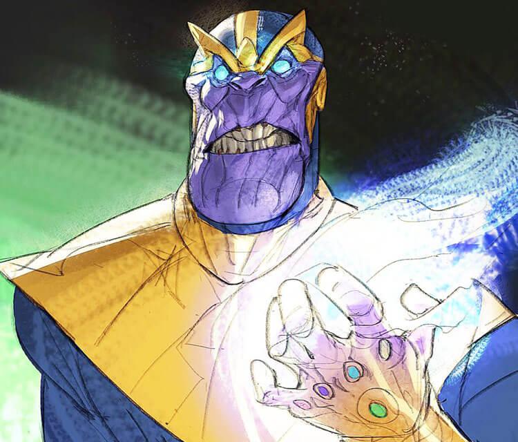Thanos digitalart by Ramon Nunez