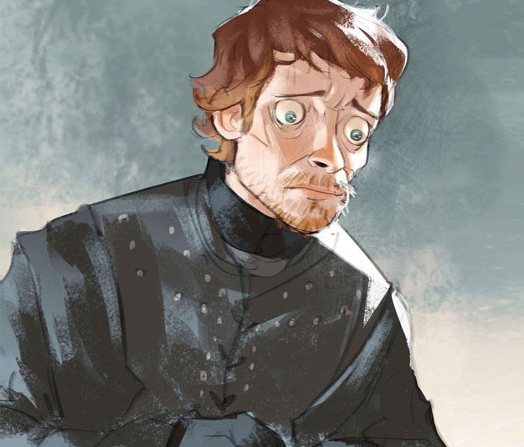 Theon Greyjoy digitalart by Ramon Nunez