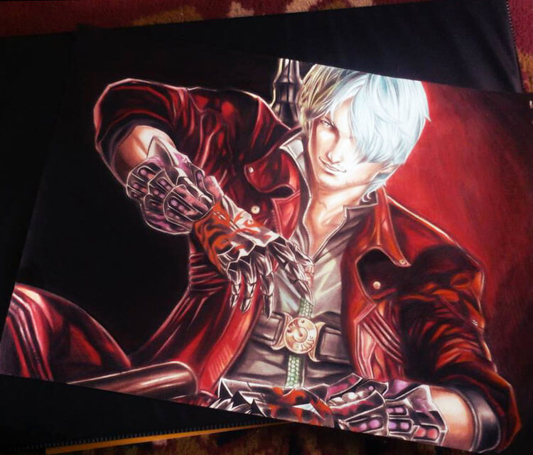 Dante from The Devil May Cry drawing by Roberto Vieira