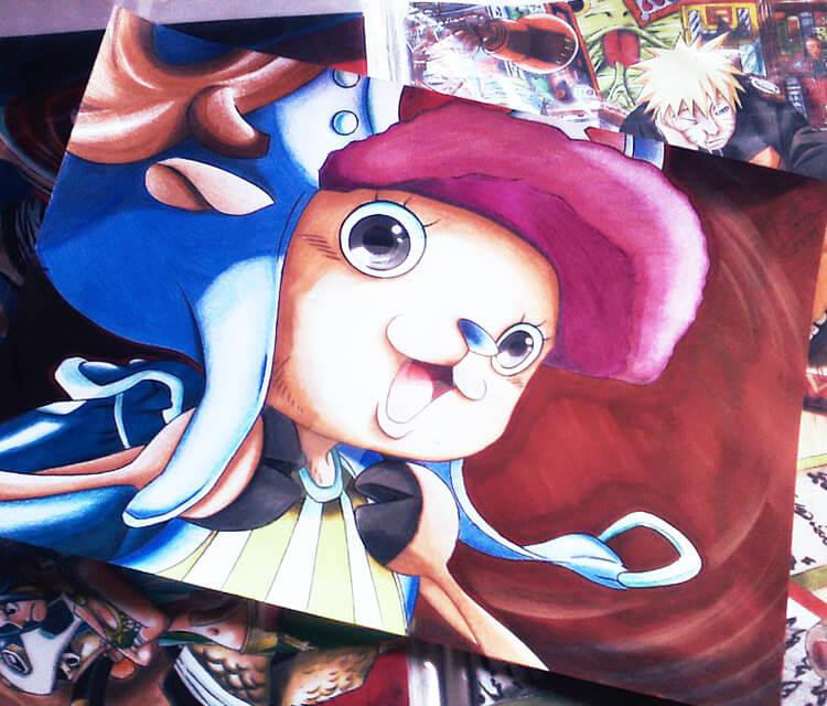 Tony Tony Chooper color drawing by Roberto Vieira