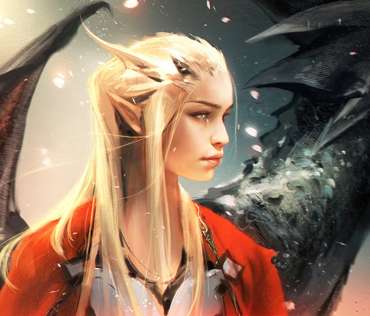 Daenerys Targaryen digitalart by Ross Draws