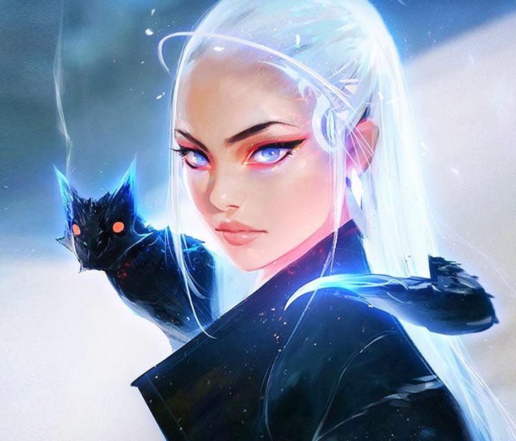 Daenerys and Little Drogon digitalart by Ross Draws