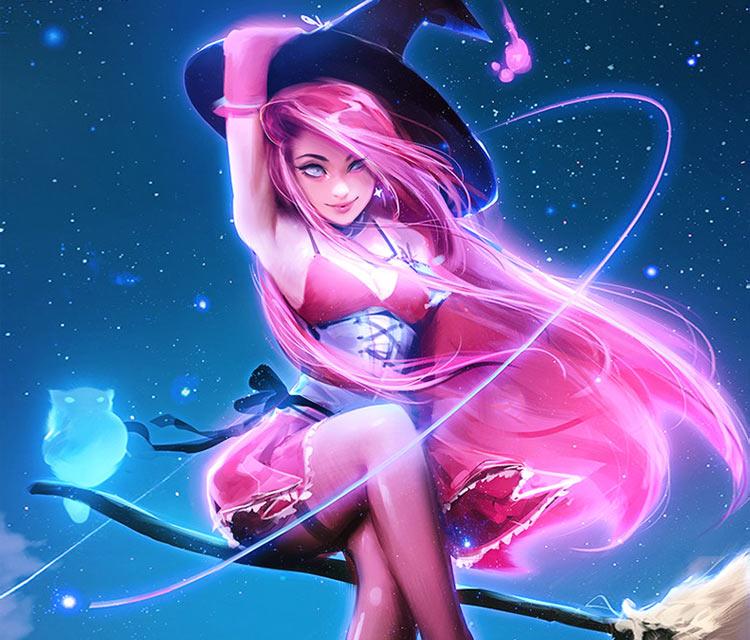 Witch digitalart by Ross Draws