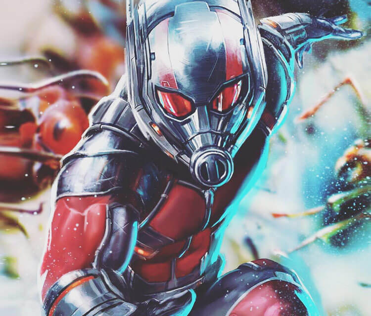 Ant-man color drawing by Rudy Nurdiawan