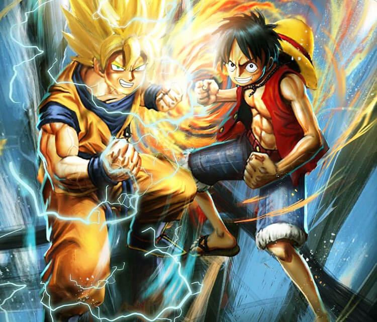 Goku And Luffy Drawing By Rudy Nurdiawan