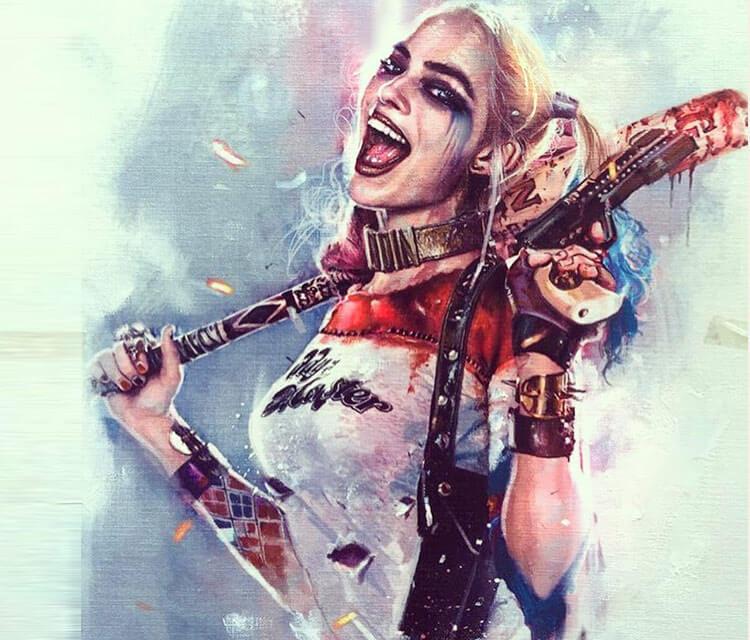 Harley Quinn painting by Rudy Nurdiawan