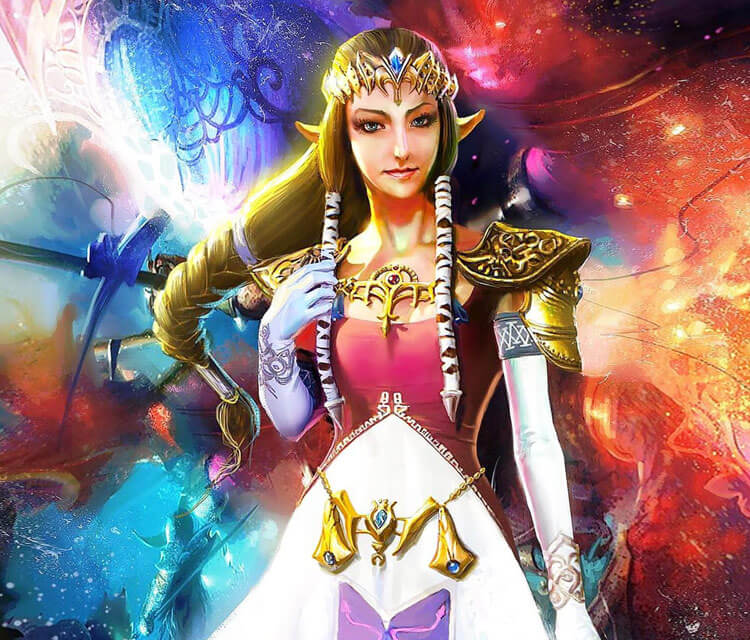 Princess Zelda drawing by Rudy Nurdiawan