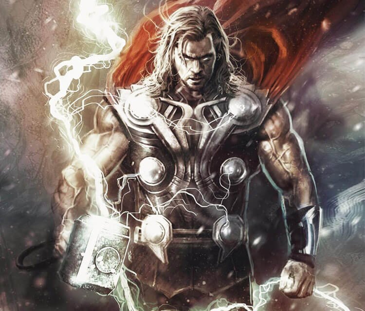 Thor drawing by Rudy Nurdiawan
