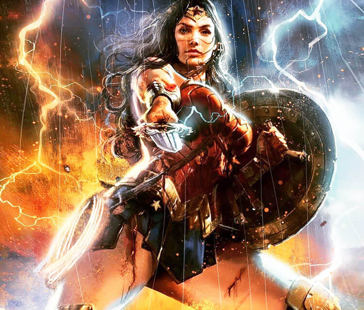 Wonder Woman drawing by Rudy Nurdiawan
