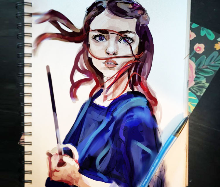 Arya Stark painting by Sarah Moustafa