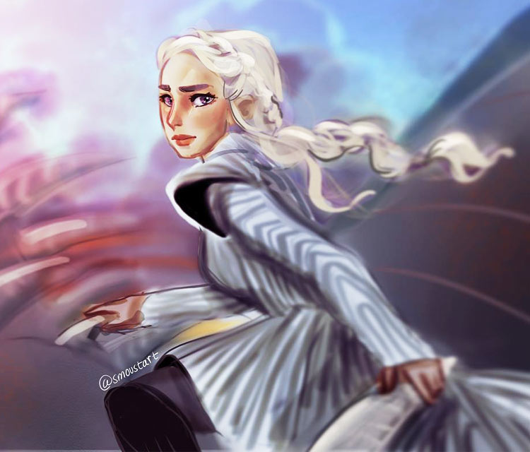 Daenerys digitalart by Sarah Moustafa