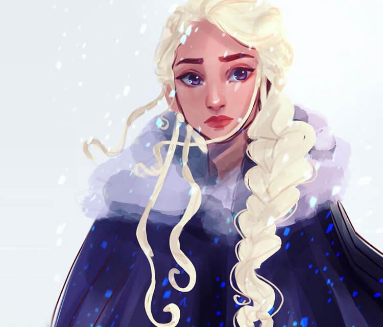 Daenerys Targaryen 3 painting by Sarah Moustafa
