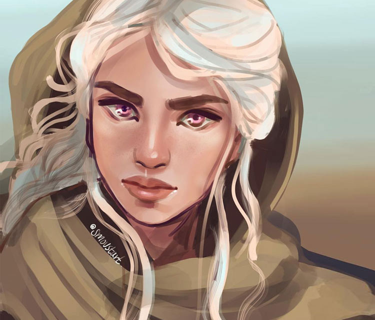 Daenerys Targaryen digitalart by Sarah Moustafa