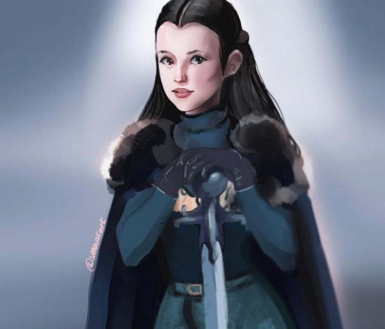 Lyanna Mormont digitalart by Sarah Moustafa