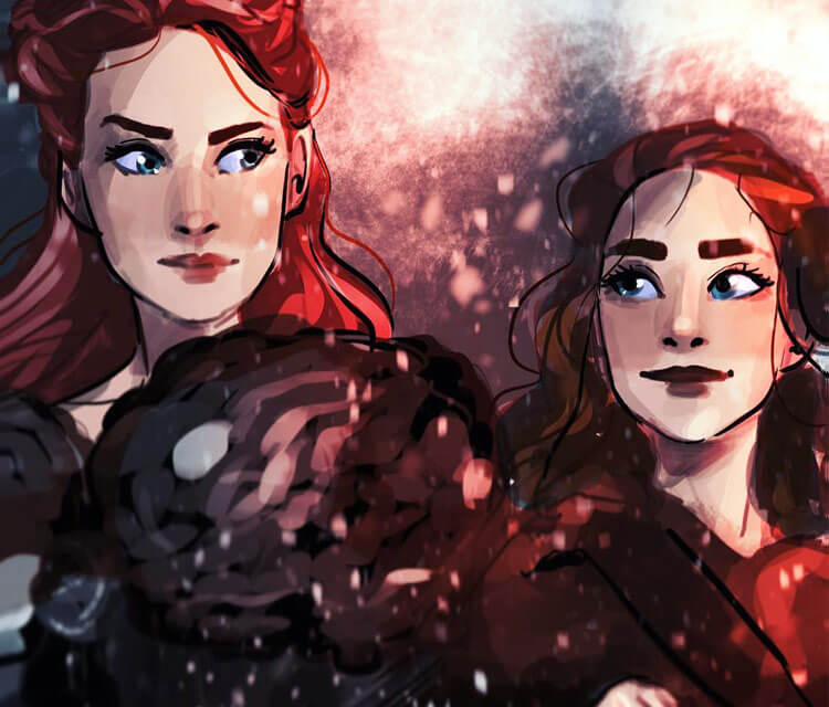 Sansa and Ary Stark digitalart by Sarah Moustafa