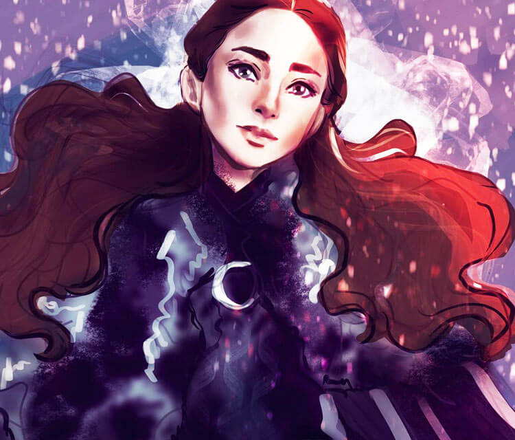 Sansa Stark digitalart by Sarah Moustafa