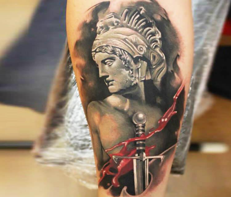 Ancient Warrior tattoo by Sergey Shanko