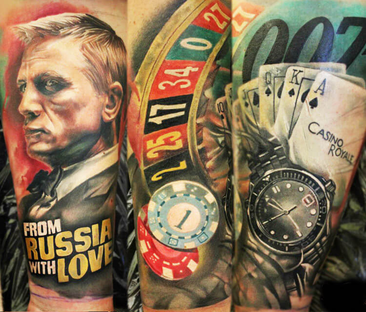 Casino Royale tattoo by Sergey Shanko