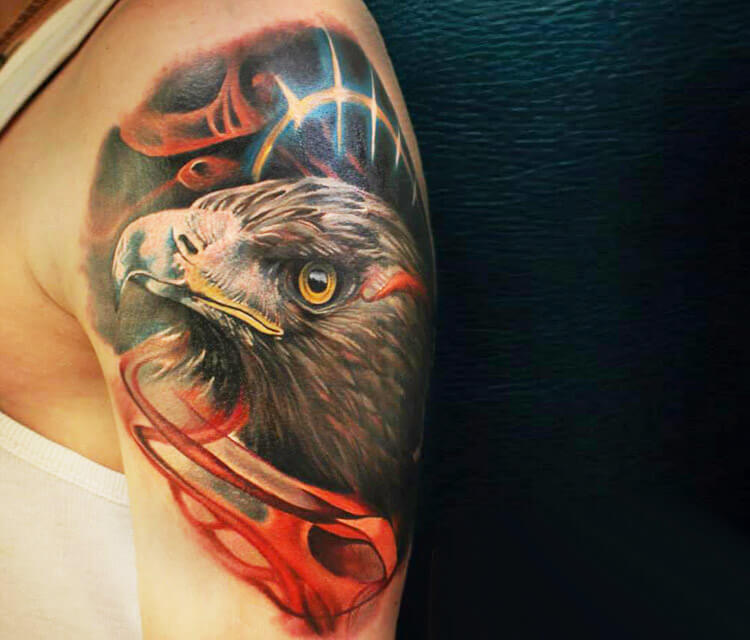 Eagle tattoo by Sergey Shanko