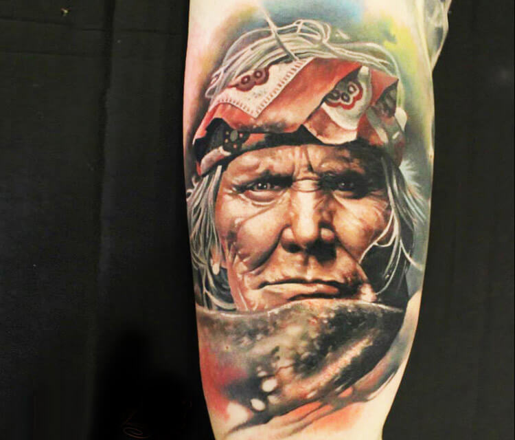 Indian tattoo by Sergey Shanko