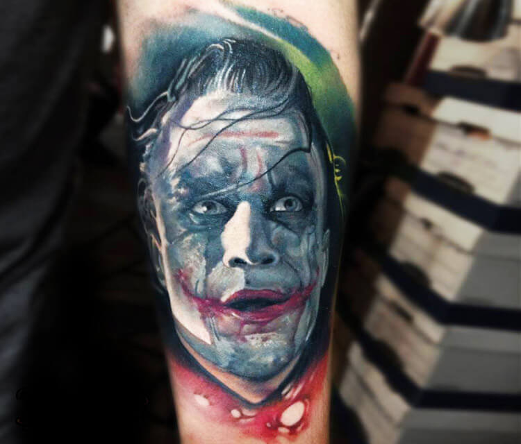 Joker tattoo by Sergey Shanko