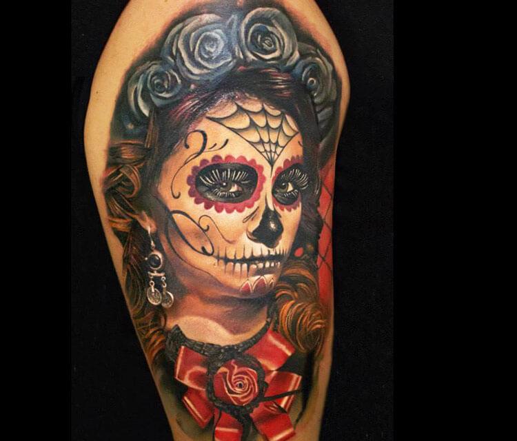 Muerte 1 tattoo by Sergey Shanko