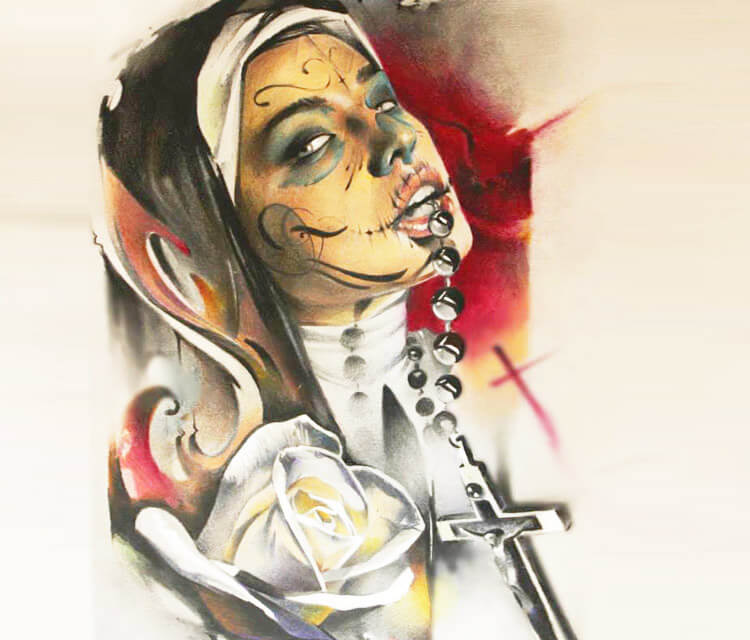 Muerte nun color drawing by Sergey Shanko