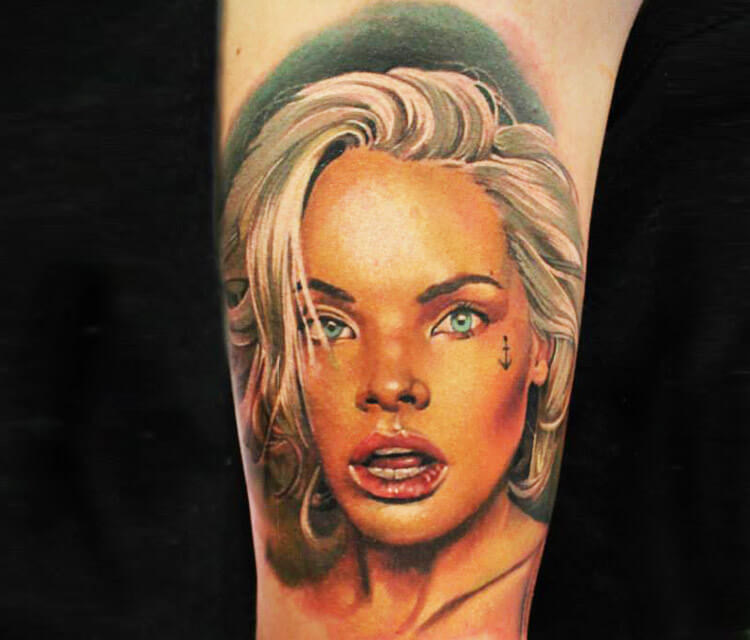 Surprised  tattoo by Sergey Shanko