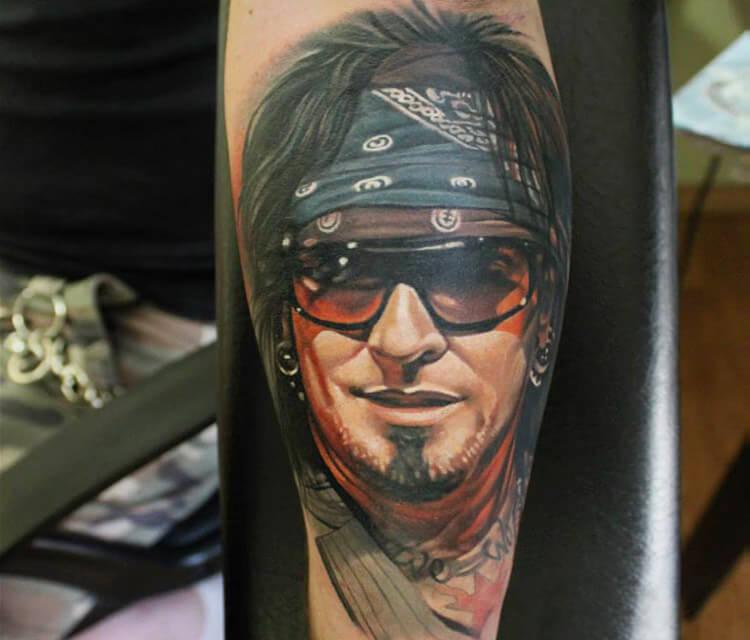 Tommy Lee tattoo by Sergey Shanko