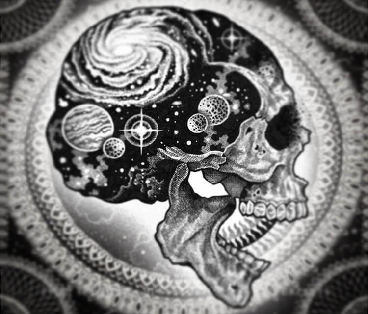 Cosmic Skull2 marker drawing by Sneaky Studios