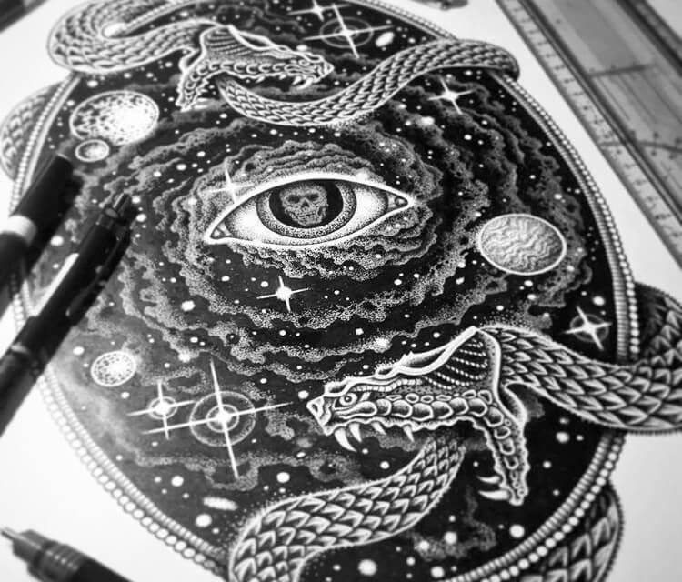 Infinity drawing by Sneaky Studios