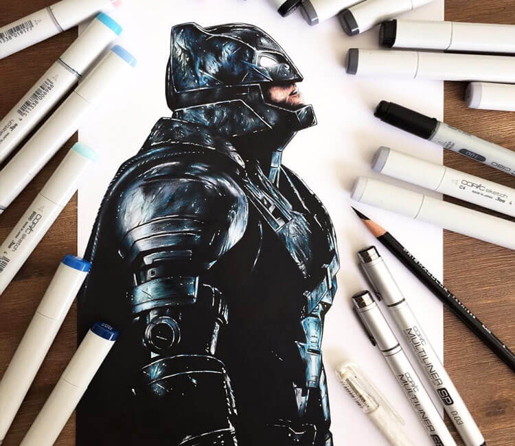 Batman pencil drawing by Stephen Ward