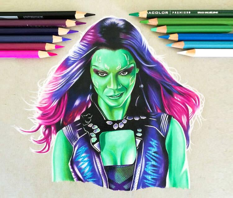 Gamora drawing by Stephen Ward