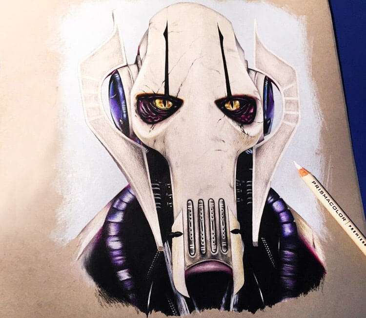 General Grievous drawing by Stephen Ward